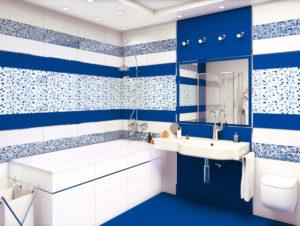 керамическая плитка в интерьере ванной