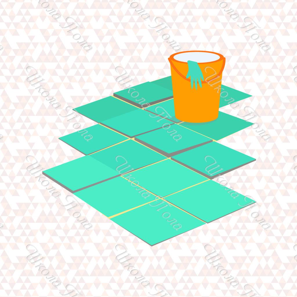 плитка уложенная в разный уровень