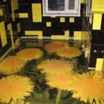 3д-рисунки на полу