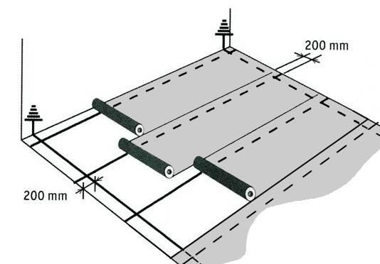 Базовая схема укладки линолеума в помещении.