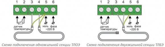 Чем отличается схема подключения одножильного теплого пола от схемы двухжильного