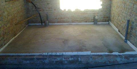 «Черновая» бетонная стяжка в готовом виде