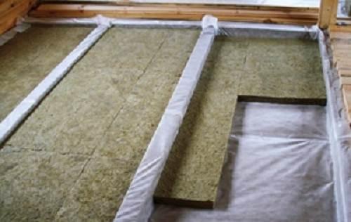 Черновой пол в каркасном доме: утепление листами минеральной ваты