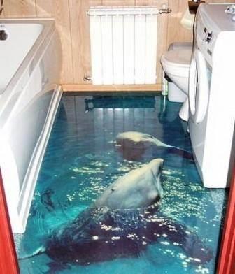 Дельфины в ванной