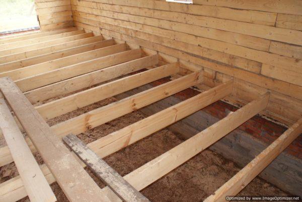Деревянный пол – очевидное решение для дома из бруса или сруба.
