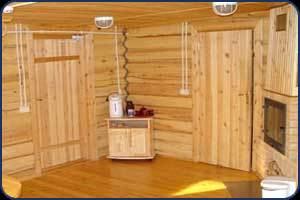 Фото бани с деревянным полом