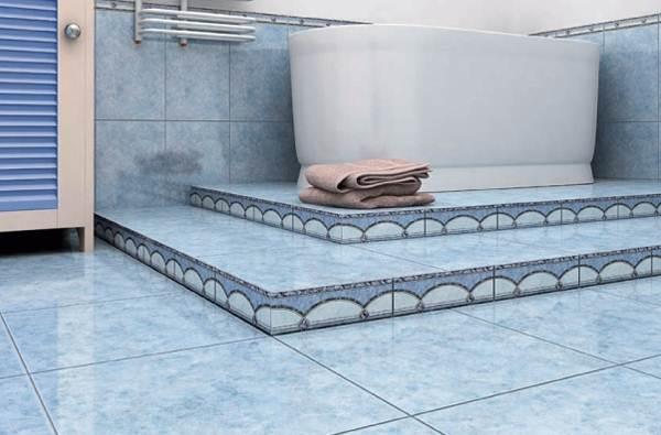 Фото идеального пола и дизайна ванной комнаты