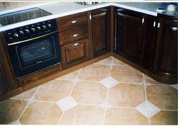 Фото одного из наиболее простых вариантов плиточного покрытия