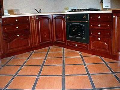 Фото плиточного пола на кухне