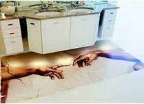 Фото покрытия на кухне.