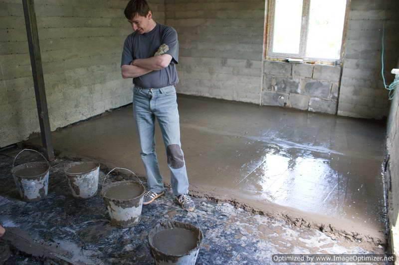 Заливка пола в гараже бетоном своими руками пропорции 63