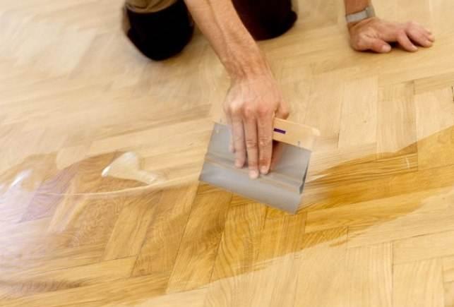 Фото шпаклевки деревянного пола.