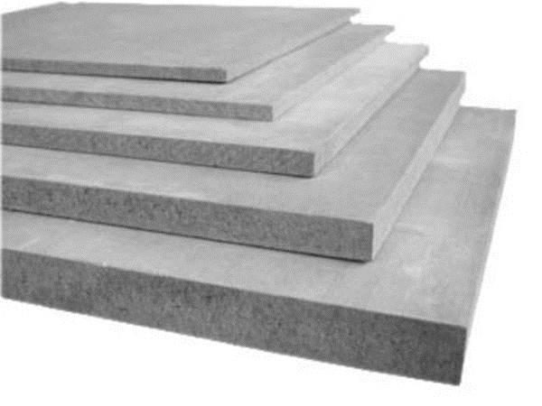 Фото цементно-стружечных плит разного сечения, которые определят толщину напольного покрытия