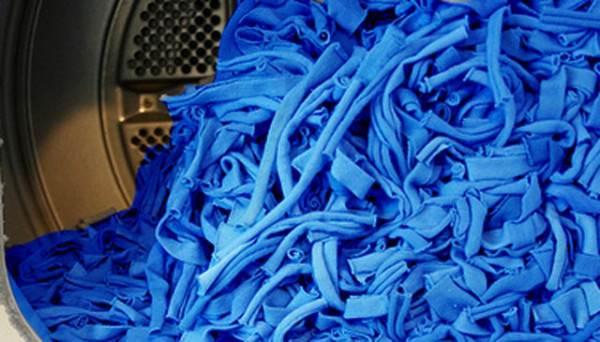 Фото заготовок для самодельного коврика после стирки