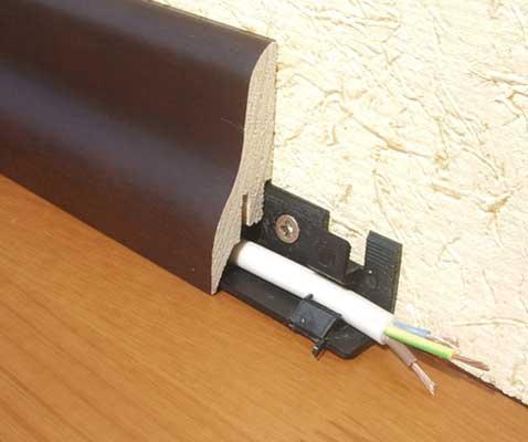 Фриз из МДФ со встроенной проводкой