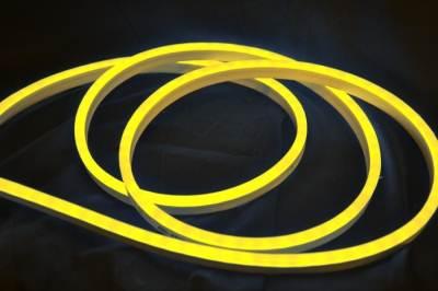 Гибкий ультратонкий светодиодный неон, желтый.