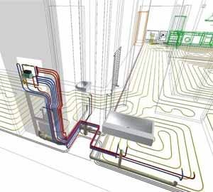 Электрический теплый пол: подробная схема установки
