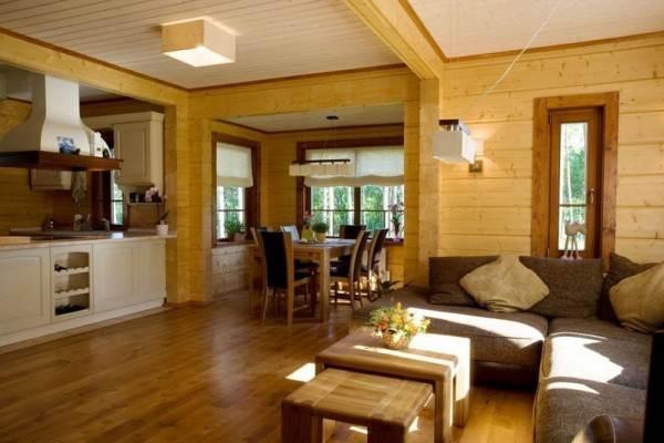 Интерьеры деревянных домов неповторимы.
