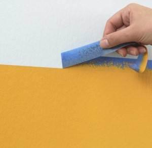 Использование малярной ленты при проведении покрасочных работ.