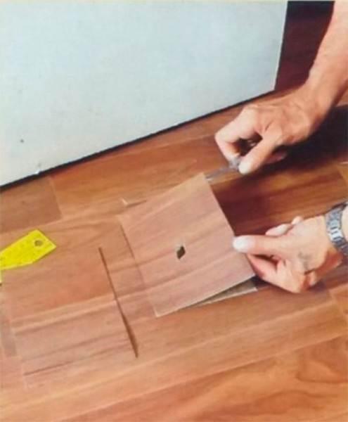 Использование материала с одинаковой расцветкой
