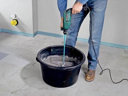 Изготовление цементно-песчаной смеси