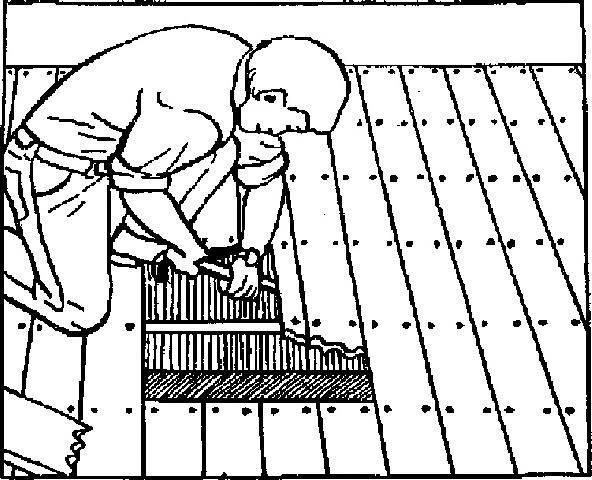 Извлечение испорченных кусков древесины