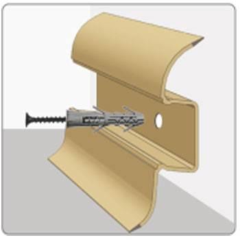 Как крепить плинтуса к бетонной стене саморезом со шкантом