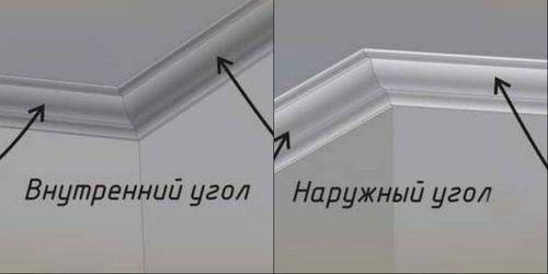 Как поклеить потолочный плинтус на углы с учетом его типа