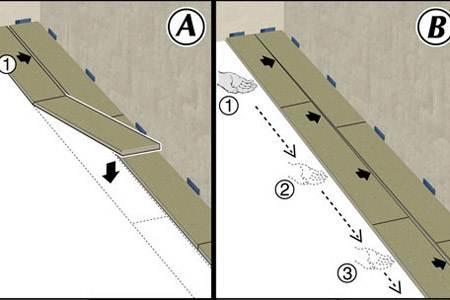 Как положить первый и второй ряд
