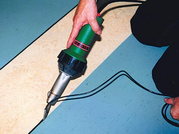Как сварить линолеум в домашних условиях с применением шнура