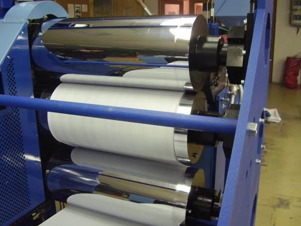 Каландровая линия для производства защитной пленки для линолеума.