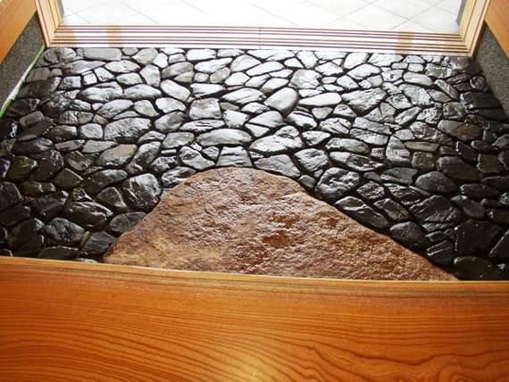 Камень смотрится необычно