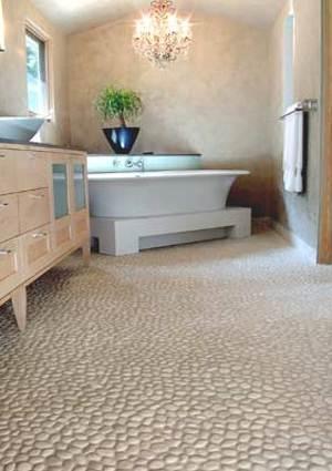 Каменная мозаика в ванной