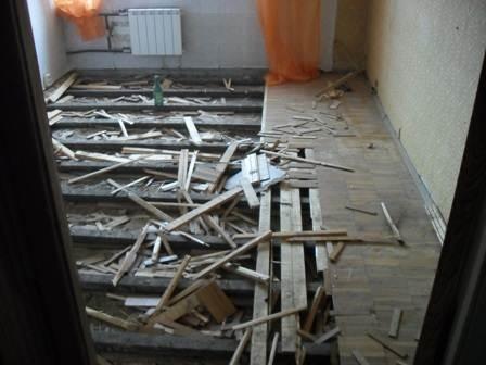 Капитальный ремонт деревянного пола