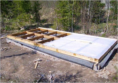 Каркасный дом: начало строительства.