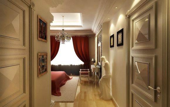 Комната, выполненная в классическом стиле.