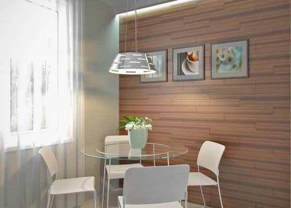 Ламинат на стенах ещё нужно уметь направлять – всё та же прямолинейная текстура, но свет и аксессуары могут ей помочь