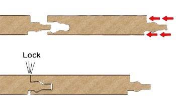 Lock-соединение досок.