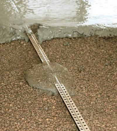 Маяк для стяжки на керамзите
