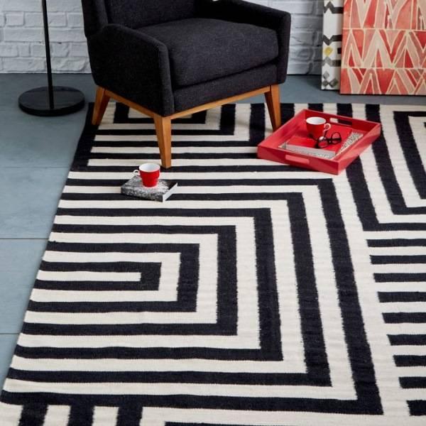 Модные ковры с геометрическими формами