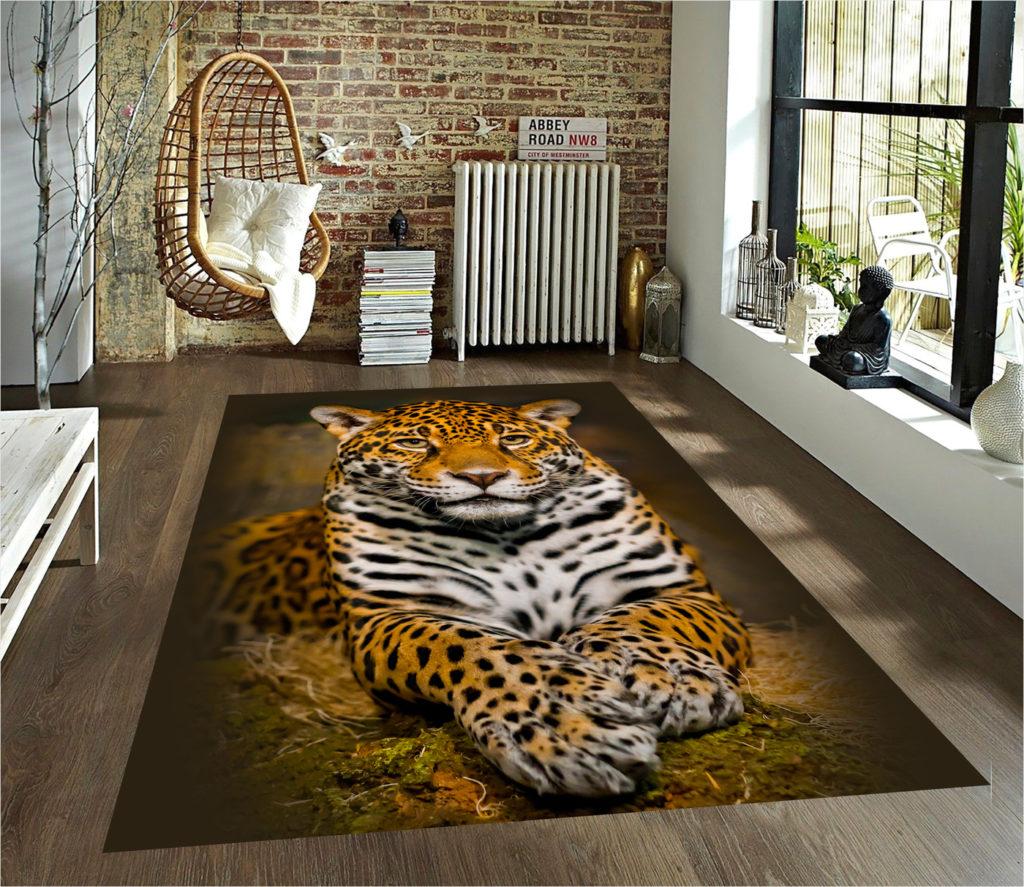 Модный ковер с леопардом