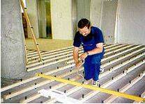 Монтаж лаг на бетонную стяжку.