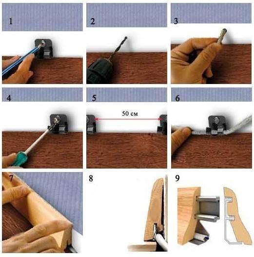 Монтаж на саморезы при помощи специальных крепежей.