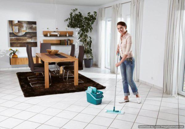 Мытье пола – завершающий этап уборки