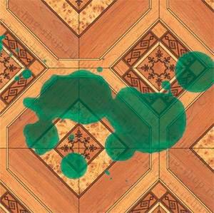 На фото - зеленка на полу