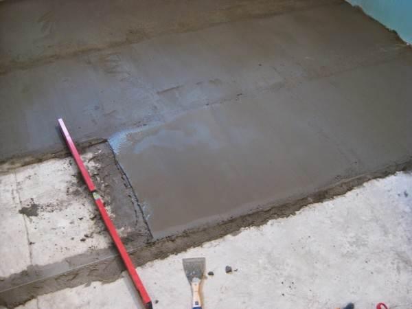 На фото бетонное покрытие
