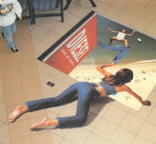 На фото показан пример использования наклейки в маркетинговых целях