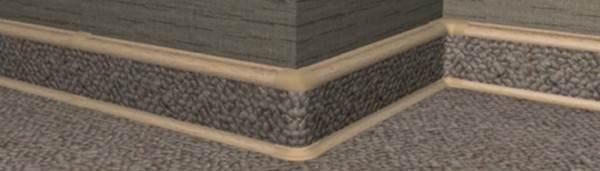 На фото показан вариант, при котором полоска ковролина закрепляется непосредственно на изделие с помощью клейкой ленты.
