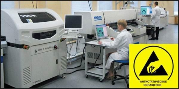 На фото помещение, в котором аккумулирование статического заряда недопустимо