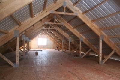 На фото представлен готовый пол, сделанный по перекрытиям.